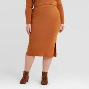 AVA AND VIV PLUS SIZE SWEATER SKIRT